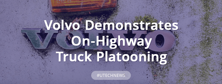 Volvo demonstrates on-highway truck platooning