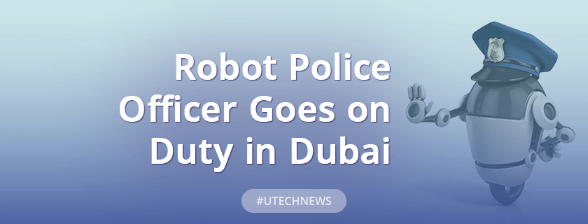 Robot police officer goes on duty in Dubai