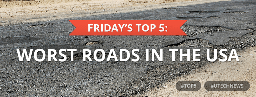 top5 worst roads USA utech news