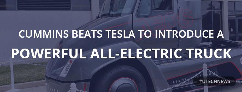 Cummins electric truck utech news
