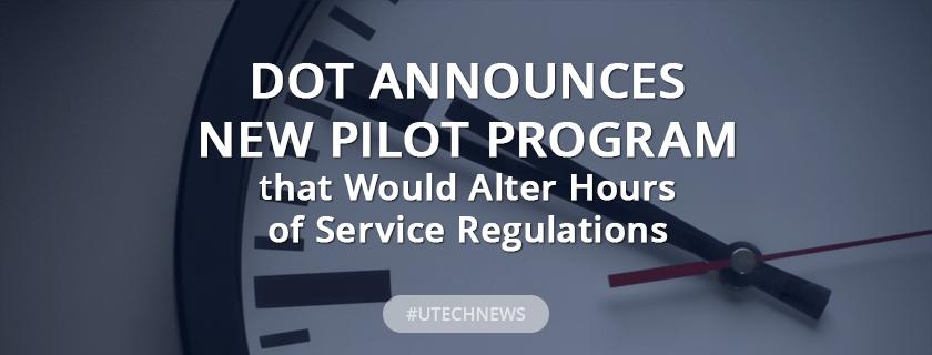 DOT announces new pilot program