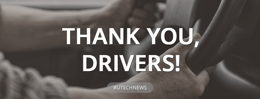 Thank you, drivers - UTECH