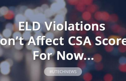 ELD Violations wont affect CSA scores