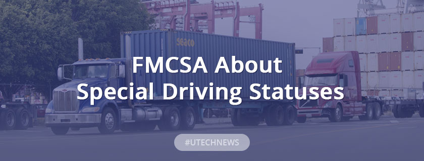 FMCSA about Special Driving Statuses