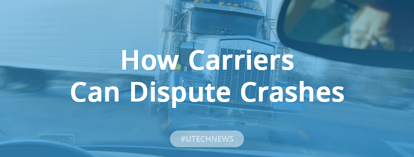 How carriers can dispute crashes