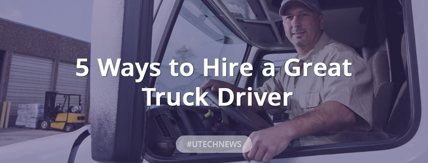 Ways to hire a truck drive buy UTECH